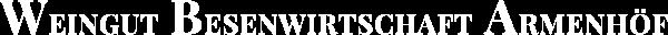 Logo Weingut Besenwirtschaft Armenhoef 600 32 Quer